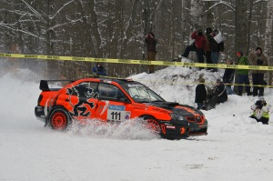 ".   ""Crazy Leo"" Leonid Urlichich and his navigator Carl Williamson drove their no.111 2007 Subaru Beast to a podium finish"