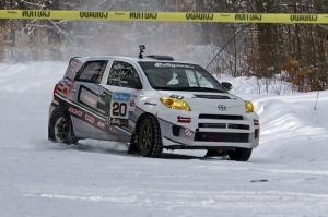 """""""ACP"""" Andrew Comrie-Picard and navigator Jeremy Wimpey made an impressive run in their 2WD Scion xD"""