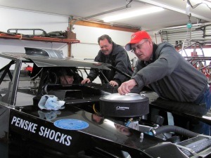 It's all smiles for Brian Brindley, Bill Long, and Donnie Roberts as they gear up for 2013 by bringing Donnie's newest ride to life.