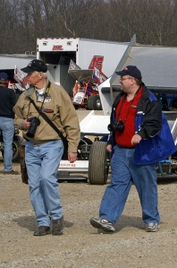 "Todd ""TJ"" and Bob Buffenbarger pitside at Attica."