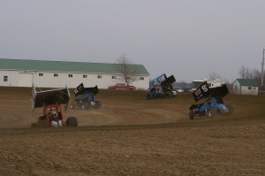 A fast-paced hotlap session on opening night 2013 at Attica Raceway Park
