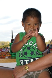 Eli proves that you can't help but be all smiles during your visits to Crystal Motor Speedway
