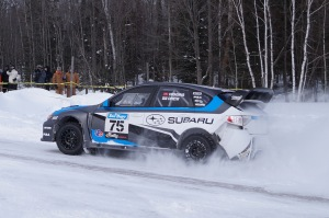 David Higgins and Craig Drew ran a nearly flawless rallly on their way to the overall win.