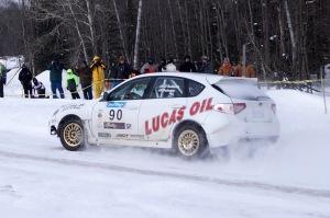 Lauchlin O'Sullivan & Scott Putnam drove their no.90 Subaru to a podium finish.