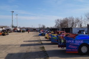 Cars packed the pits at Crystal Motor Speedway's opener on April 19th, 2014