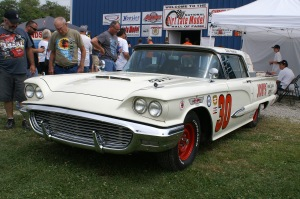 2014 NDLMHoF Inductee; Bob Kosisiki's restored no.30 machine was one of many cars on display during the North/South 100